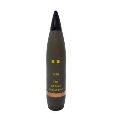 105mm M1 NATO HE Artillery Shell w Fuze - Inert Replica OTA-2977F NSN 6910-01-6089878