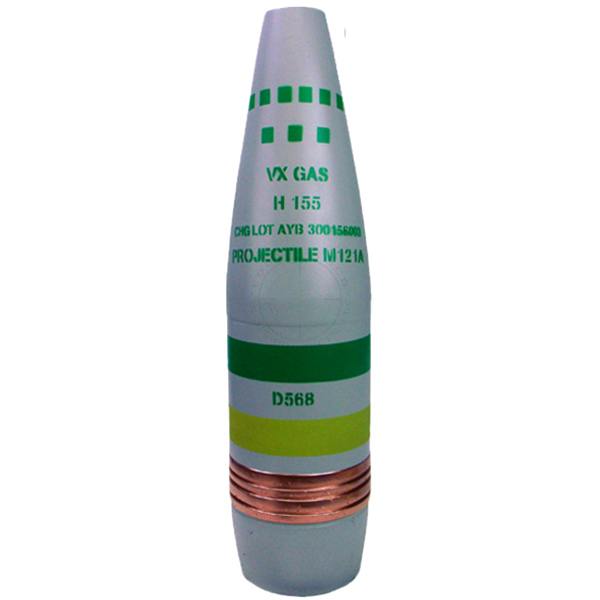 155mm Chemical Artillery Projectile - Inert Replica