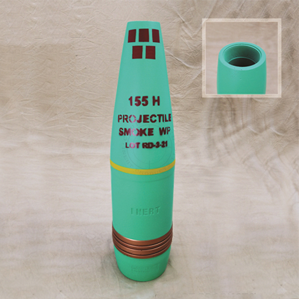 155mm M105 WP Smoke Artillery Projectile - Inert Replica Training Aid