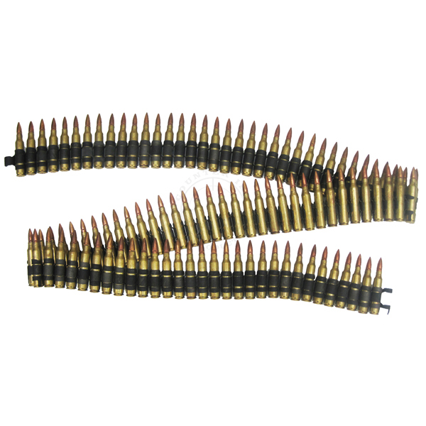 .223 Cal / 5.56mm 100 Round Belt - Inert Dummy Ammunition