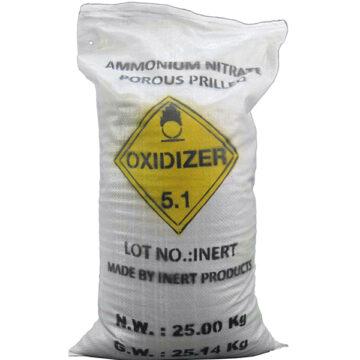25 Kg Ammonium Nitrate Fertilizer Bag (Domestic) - Filled, Inert Training Aid