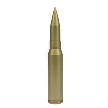 25mm Round (All-Metal) - Solid Dummy Replica Ammunition