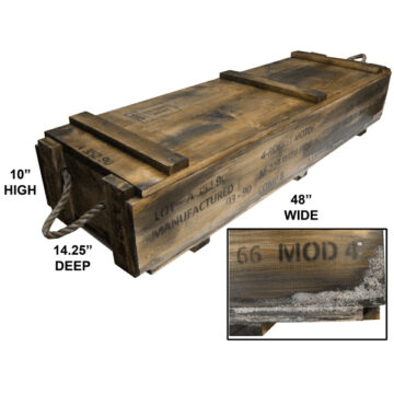 "2.75"" Hydra Rockets Crate (Empty, Simulated Exuding)"