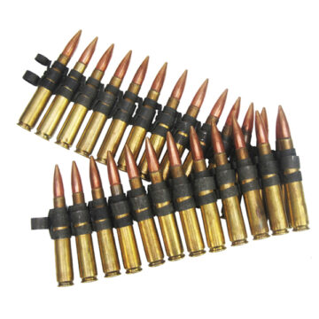 .50 Cal 25 Round Belt - Inert Dummy Ammunition