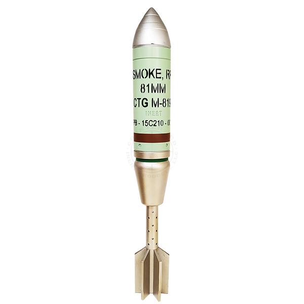 81mm M819 US RP Smoke Mortar Round - Inert Replica OTA-81MMS