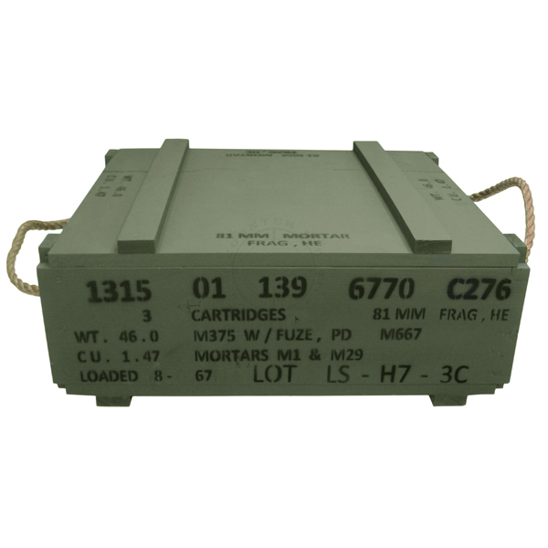 81mm H.E. Mortar Crate (Empty)