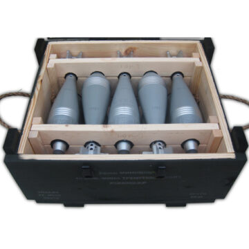 82mm Soviet Mortars Crate (with 10x Replica Mortars)