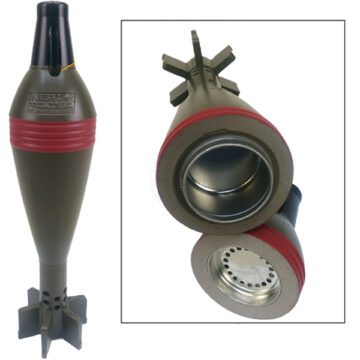Scent Containment Device - 82mm Chinese HE Mortar - Inert Replica Training Aid