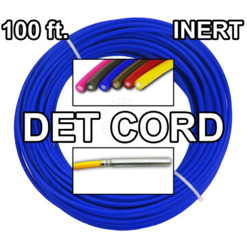 Detonating Cord (Solid Core), 100 ft Coil ​(Blue) - Inert Training Aid
