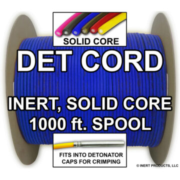 Detonating Cord (Solid Core), 1000 ft Spool (Blue) - Inert Training Aid