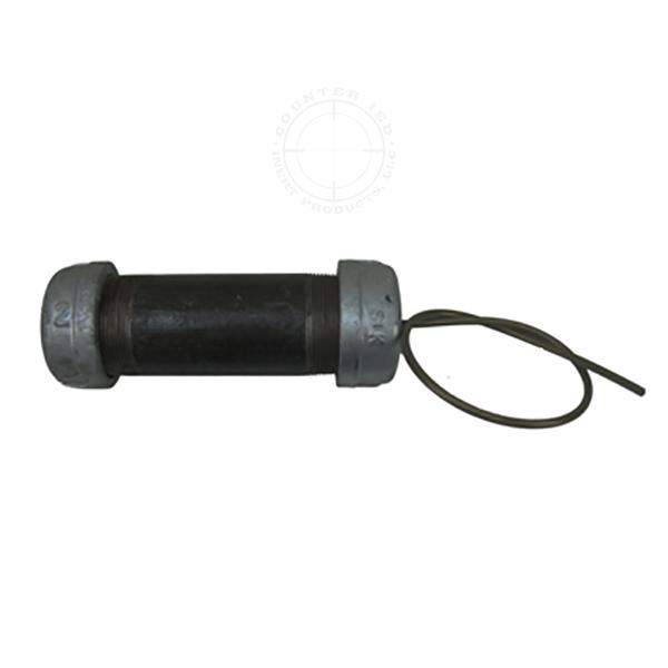 Steel Pipe Bomb IED, Medium (Time Fuse) - Inert Replica Training Aid