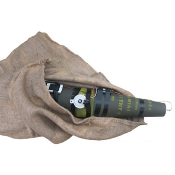 Artillery Projectile in Burlap Bag IED (Command) - Inert Replica Training Aid