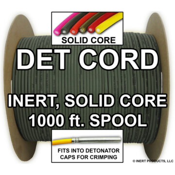 Detonating Cord (Solid Core), 1000 ft Spool (Olive Drab) - Inert Training Aid