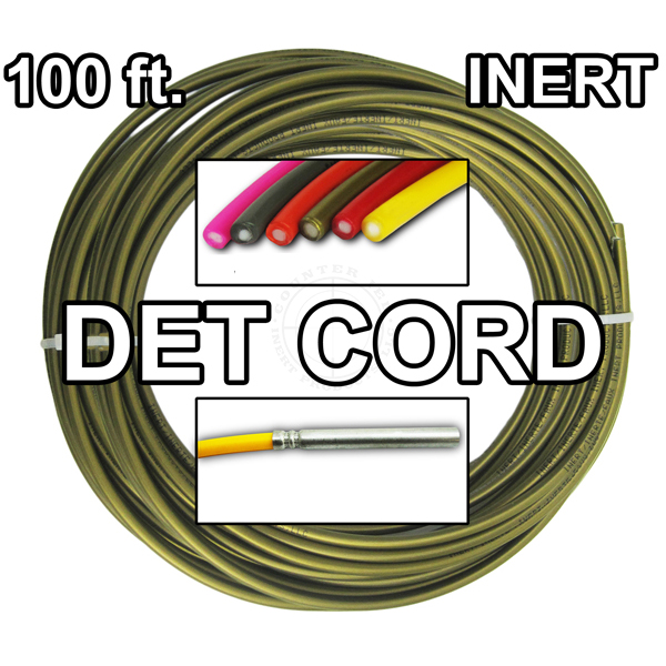 Detonating Cord (Solid Core), 100 ft Coil ​(Bronze) - Inert Training Aid