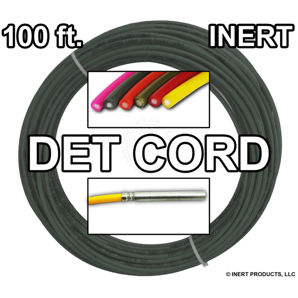 Detonating Cord (Solid Core), 100 ft Coil (Olive Drab) - Inert Training Aid