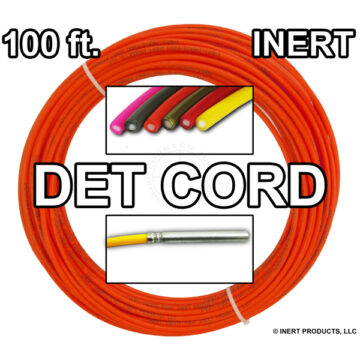 Detonating Cord (Solid Core), 100 ft Coil ​(Orange) - Inert Training Aid
