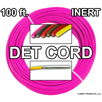 Detonating Cord (Solid Core), 100 ft Coil ​(Neon Pink) - Inert Training Aid