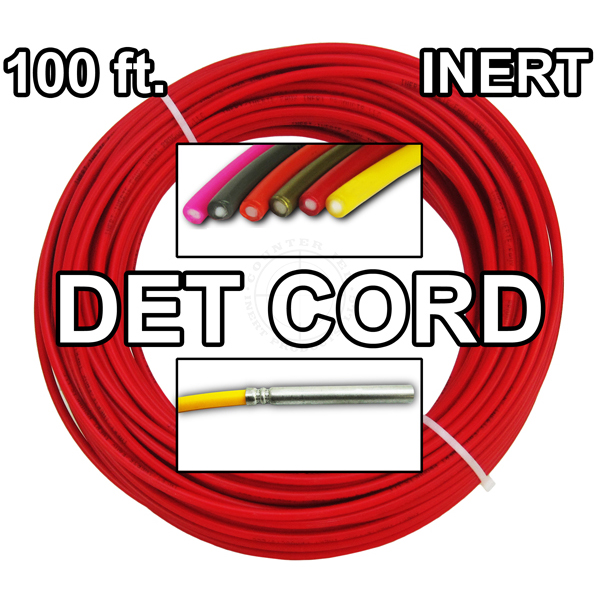 Detonating Cord (Solid Core), 100 ft Coil (Red) - Inert Training Aid