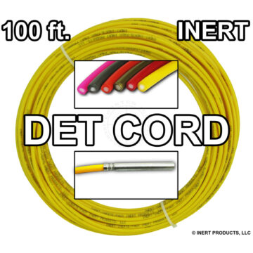 Detonating Cord (Solid Core), 100 ft Coil ​(Yellow) - Inert Training Aid