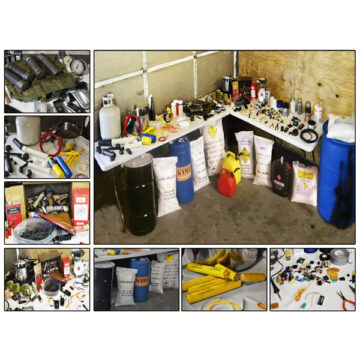 Domestic Terrorist IED / Bomb Builder's Workshop - Inert Replica Training Kit