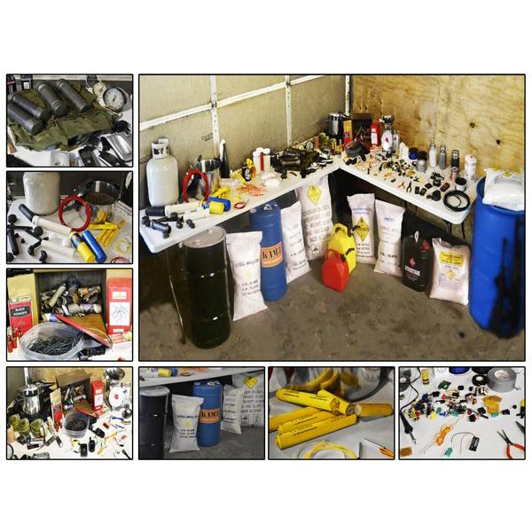 Domestic Terrorist IED / Bomb Builder's Workshop - Inert Replica Training Kit