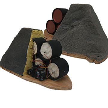 Fake Rock IED Cutaway Training Aid