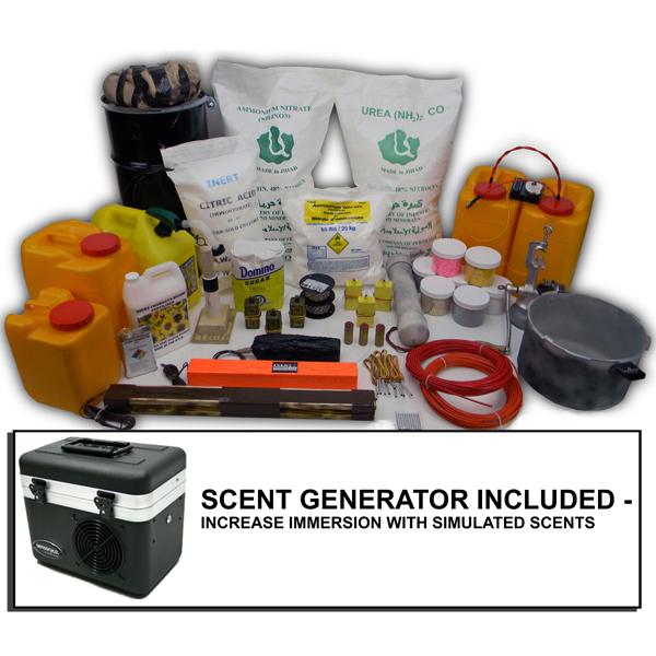 HME Fertilizer IED Lab - Inert Training Kit with Scent Generator