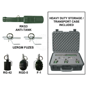 Foreign Grenade Training Kit (With Case) - Inert Replica Training Aids