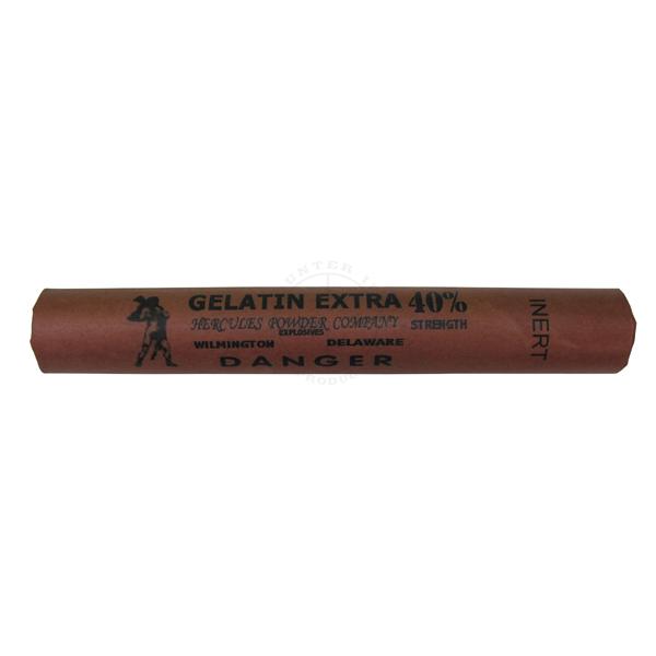 Gelatin Extra 40% Dynamite Stick - Inert Training Aid