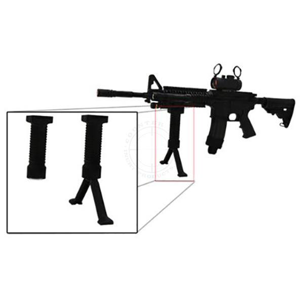 Grip Pod Vertical Grip w/ Collapsible Bipod - Polymer Black