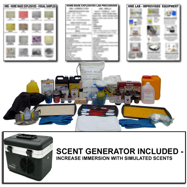 HME Urea Nitrate Lab - Inert Training Kit with Scent Generator