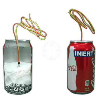 Aluminum Can IED, 2-Piece Set - Inert Replica Training Aid