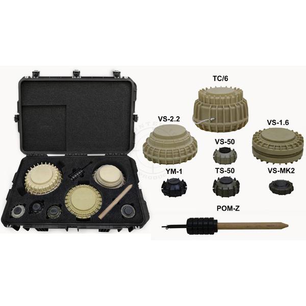 Inert Replica Landmine Training Kit (With Case)