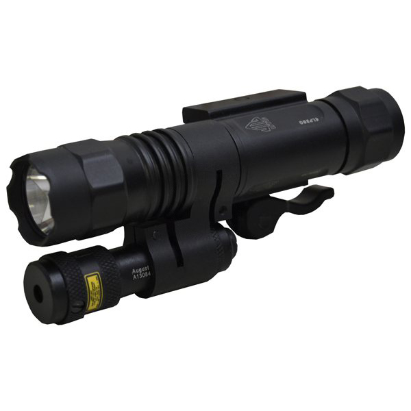 Leapers UTG Tactical LED Flashlight and Red Laser Sight - Weaver Rail