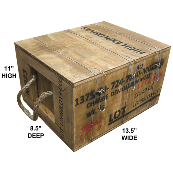 M112 C4 Demolition Block Crate (Empty or Full)