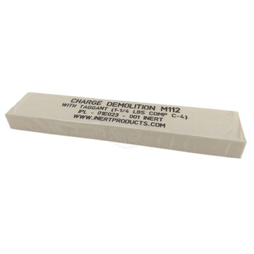 M112 C4 Demolition Block (Deluxe, Clear Wrapper) - Inert Replica Training Aid
