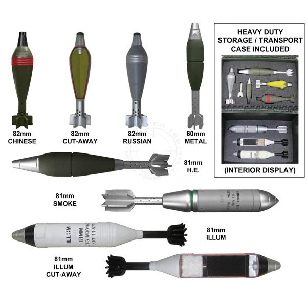 Mortar Rounds Training Kit - Inert Replica Training Aids