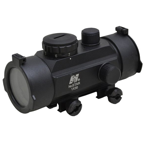 NcStar Tactical Red Dot Sight 30mm Tube 1 x 3 MOA Dot - Weaver Rail