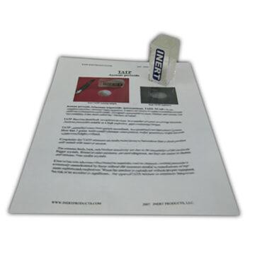 TATP (Printed Outline & Sample) - Inert Training Aid