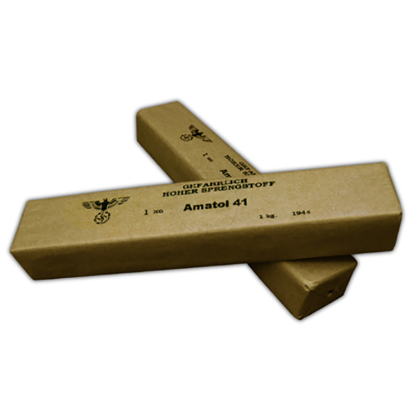 Amatol 41 German 1kg Demolition Block - Inert Replica Training Aid