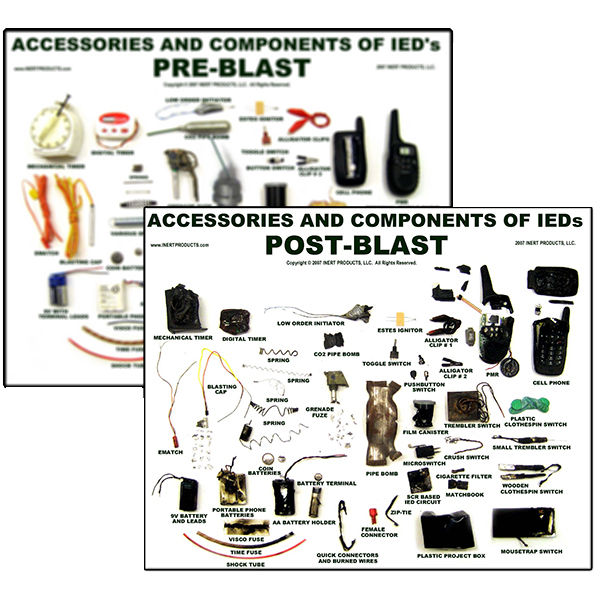 Pre-Blast and Post-Blast IED Components Poster Set (2 Posters)
