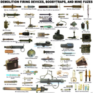 Demolition Firing Devices, Booby Traps, and Mine Fuzes Poster