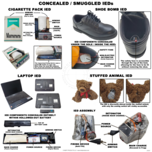 Shoe Bombs and Other Concealed IEDs Poster