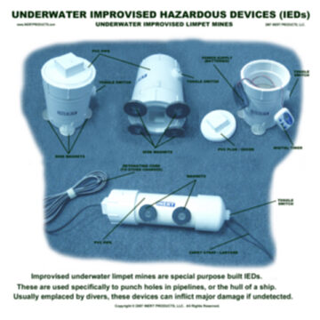 Underwater IEDs / Improvised Limpet Mines Poster