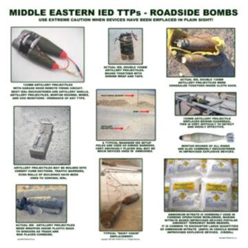 Middle Eastern IED TTPs - Roadside Bombs Poster