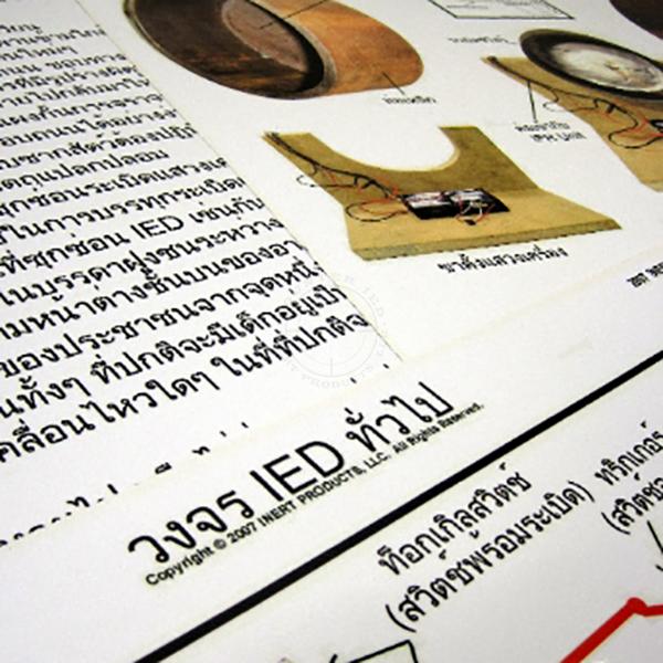 IED Training Poster Set (39) - Thai Language