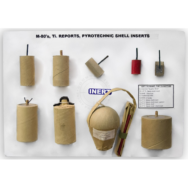 """Pyrotechnic Devices / Fireworks (M-80s, Ti. Salutes, etc.) Display Board (11"""" x 14"""")"""