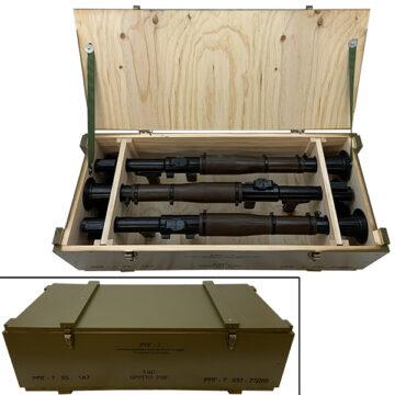 RPG-7 Rocket Launchers Crate w/ 3x Replica Launchers OTA-WC15