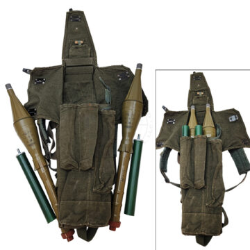 RPG Rocket Bag (w 2X Inert PG-7V 85mm RPG Rockets & Boosters) OTA-RPG7BP