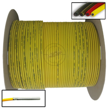 Time Fuse (Solid Core), 1,000 ft Spool (Yellow) - Inert Replica OTA-SC96